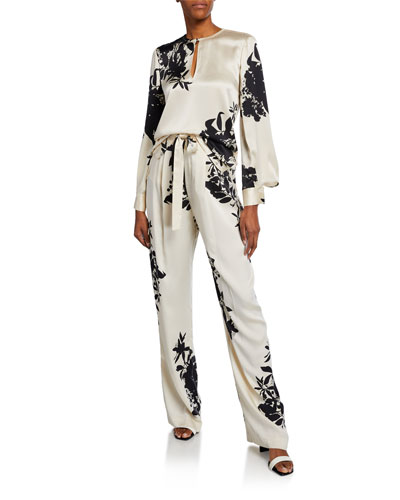 Delainey Two-Tone Long-Sleeve Blouse and Matching Items
