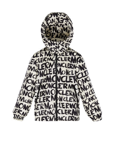 Logo Printed Nylon Hooded Jacket  Size 4-6  and Matching Items