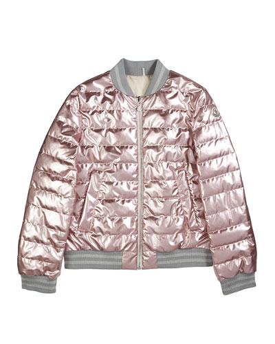Metallic Quilted Bomber Jacket  Size 4-6  and Matching Items