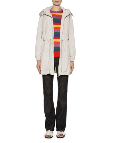 Topaze Long Self-Tie Top Coat w/ Hood and Matching Items