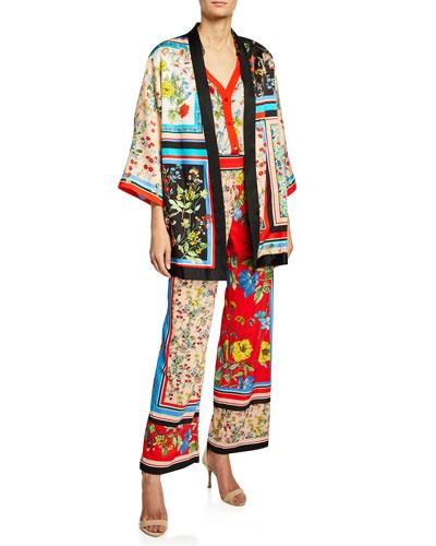 Koko Patchwork Printed Kimon and Matching Items