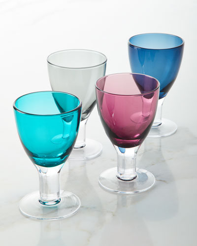 Galley Cobalt Goblets  Set of 4  and Matching Items