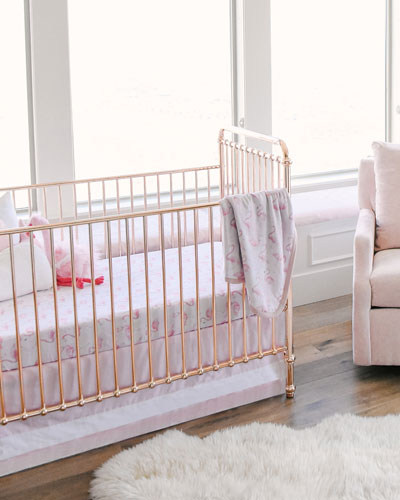 Flamingo Jersey Standard Crib Sheet  and Matching Items