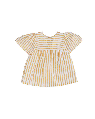 Asha Metallic Stripe Top  Size 4-6