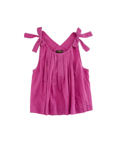Imani Pinafore Pleated Top  Size 4-6