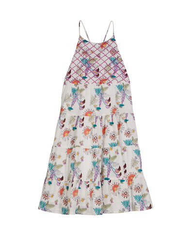 Lara Tiered Floral Sun Dress  Size 4-6