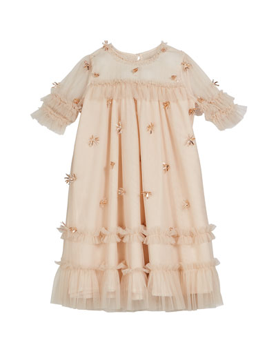 Laylani Smocked Ruffle Party Dress  Size 3-6