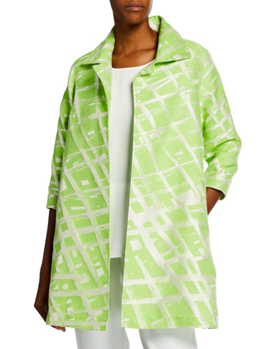 Plus Size Citrus Jacquard Party Jacket and Matching Items