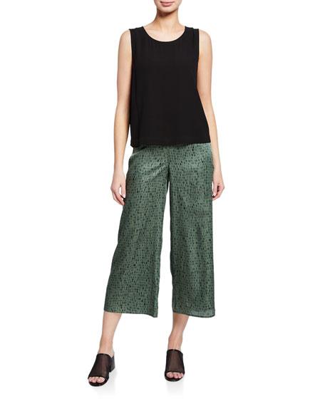 Eileen Fisher Petite Sleeveless Short Silk Shell