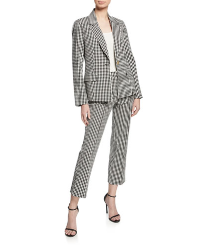 Alejandra Gingham Single-Button Jacket and Matching Items