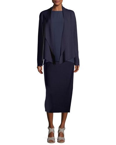Silk-Organic Cotton Interlock Shawl-Collar Jacket and Matching Items