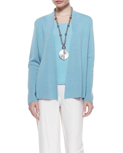 Petite Silk-Blend Interlock Open-Front Jacket and Matching Items