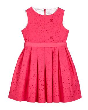 969991ffb9f24 Helena Eyelet Embroidered Sleeveless Dress