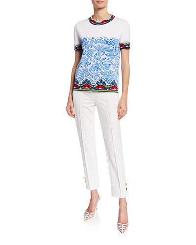Short-Sleeve Ceramic Intarsia Shirt and Matching Items