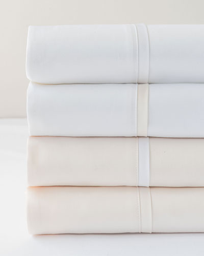 Estate Pair of Standard Pillowcases  White/White  and Matching Items
