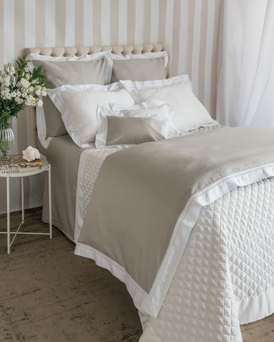Devere King Duvet Cover  Taupe/White  and Matching Items