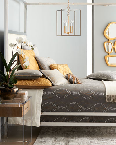 Rialto Velvet Embroidered King Duvet  and Matching Items