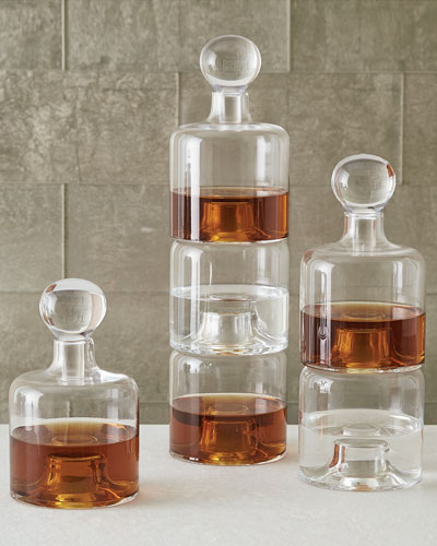 Double Stacking Decanter and Matching Items