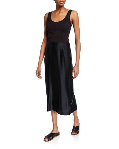 Midi Satin Slip Skirt and Matching Items