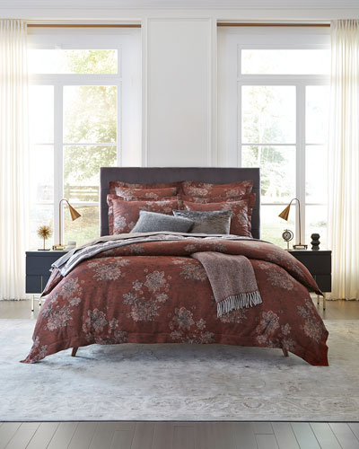 Stamped Floral Continental Sham  and Matching Items