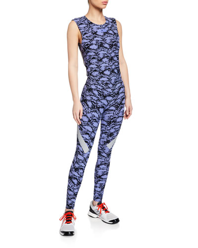 Alphaskin Scoop-Neck Printed Active Tank and Matching Items