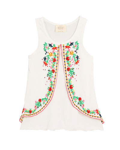 Embroidered Sleeveless Tunic Top  Size 4-6  and Matching Items