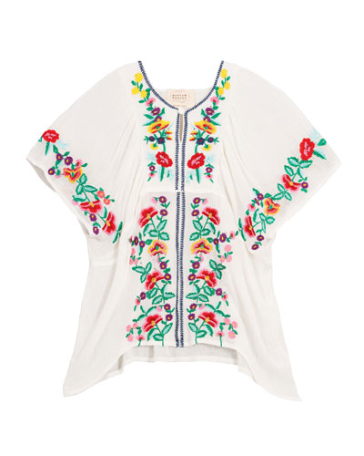 Woven Floral Embroidered Top  Size 4-6  and Matching Items