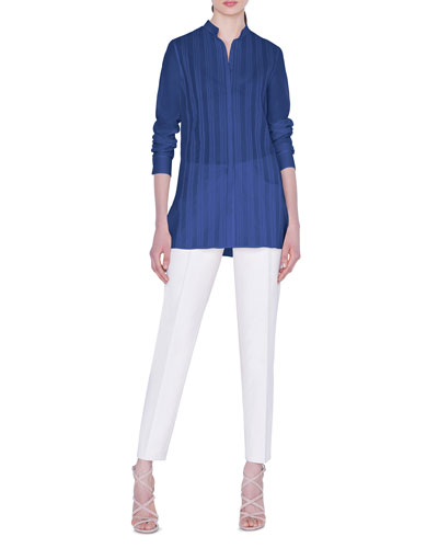 Pleated-Front Voile Blouse and Matching Items