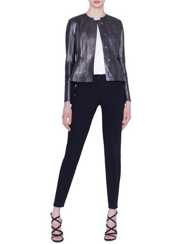 Darling Metallic Napa Leather Jacket and Matching Items