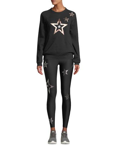 Pop Star Printed Boyfriend Pullover Sweatshirt and Matching Items