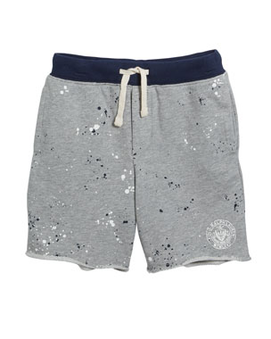 38733d9a439 Ralph Lauren Childrenswear Paint Splatter Drawstring Sweat Shorts