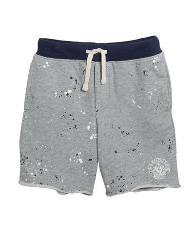 Paint Splatter Drawstring Sweat Shorts  Size 5-7  and Matching Items