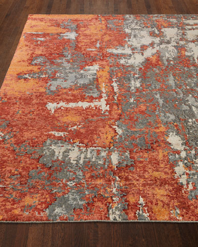 Garrick Hand-Knotted Rug  4' x 6'  and Matching Items