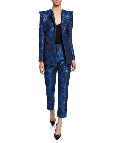 Metallic Party Jacquard Jacket and Matching Items