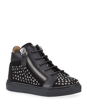 f38dbf987f667 Giuseppe Zanotti Boy's Studded High-Top Sneakers, Baby/Toddler Boy's  Studded High-
