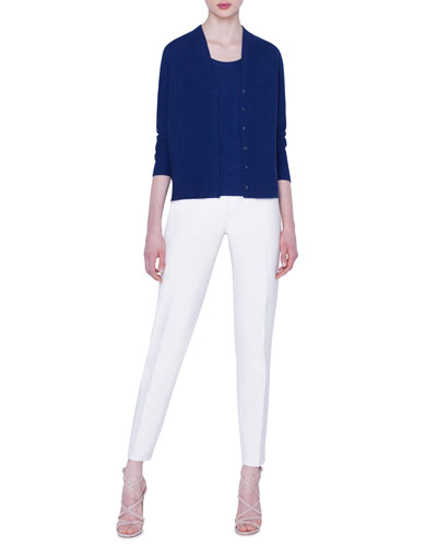 Magda Cotton-Silk Slim-Leg Pants and Matching Items