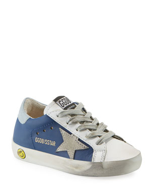 26c057f365a5 Golden Goose Superstar Leather   Suede Low-Top Sneakers