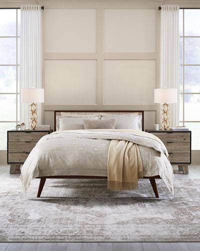 Champagne Geometric King Duvet Cover  and Matching Items