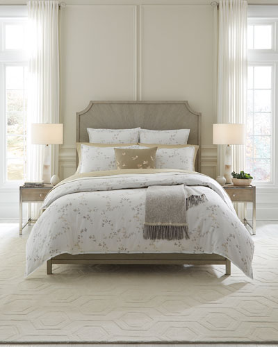 Floral Herringbone King Duvet Cover  and Matching Items