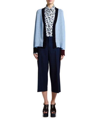 Cashmere Bicolor Cardigan and Matching Items
