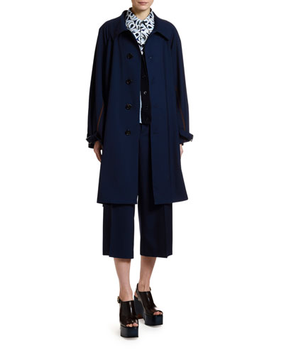 Long-Sleeve Button Front Coat and Matching Items