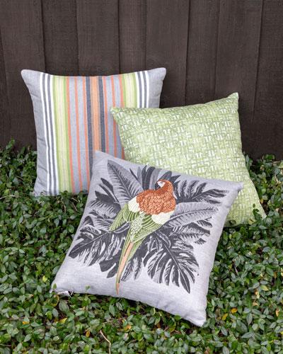 Spring Stripe Lumbar Sunbrella Pillow  and Matching Items
