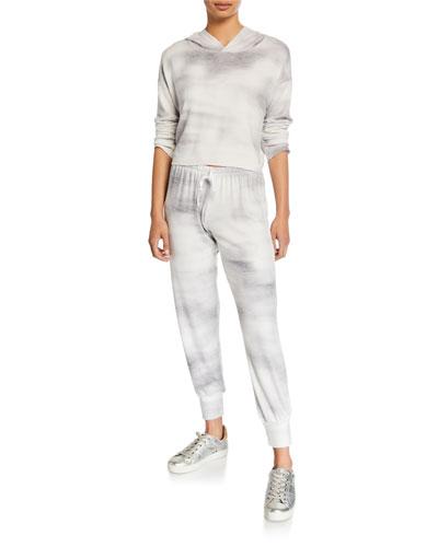 Weekend Tie-Dye Crop Hoodie Sweatshirt and Matching Items