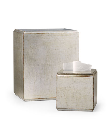 Labrazel York Silver Wastebasket