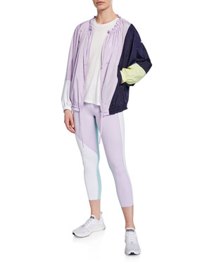 6148993631df kate spade new york color splice zip-front wind jacket color spliced  high-rise