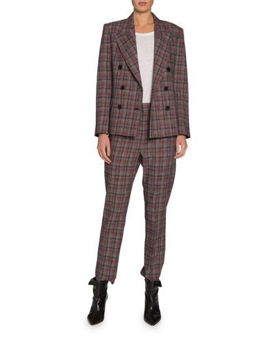 Dallin Check Double-Breasted Blazer and Matching Items