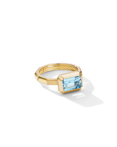 Novella 18k Blue Topaz Ring  Size 6 and Matching Items