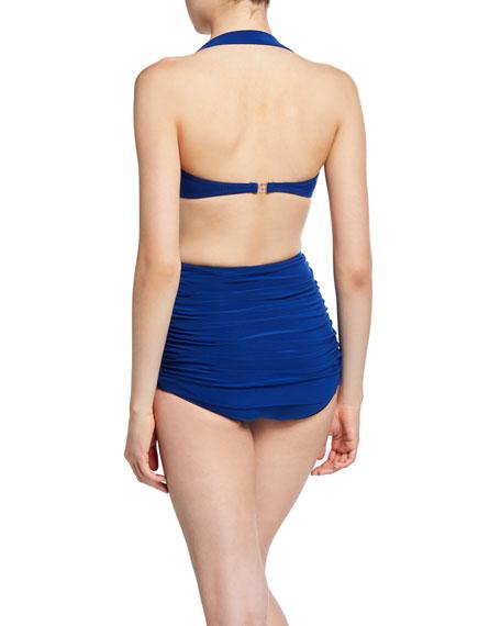 Norma Kamali Bill Ruched Halter Bikini Top