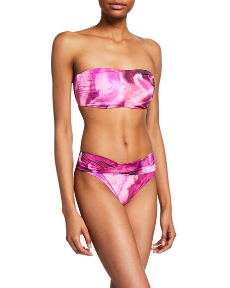 Seafolly Printed Bandeau Bikini Top (Available in DD Cup)
