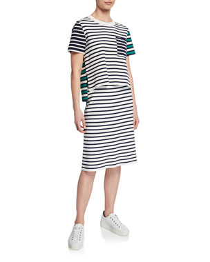 1b270eba0110 Tory Sport Breton Stripe Tech Knit Tee Breton Stripe Tech Knit Skirt